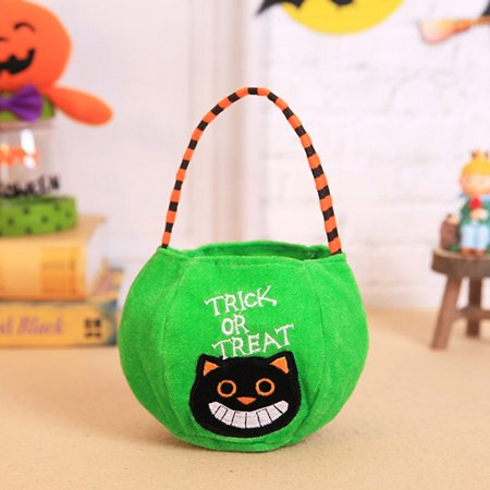 Fancyleo Halloween Pumpkin Vampire Candy Bags Basket Stuffed Hanging Party Decoration