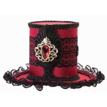 MYSTERY CIRCUS - MINI TOP HAT - BURGUNDY](Mini Mad Hatter Hats For Sale)