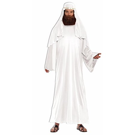 Adult Mens Christian Biblical Shepherd Nativity Wise Man Robe Costume STD WHITE