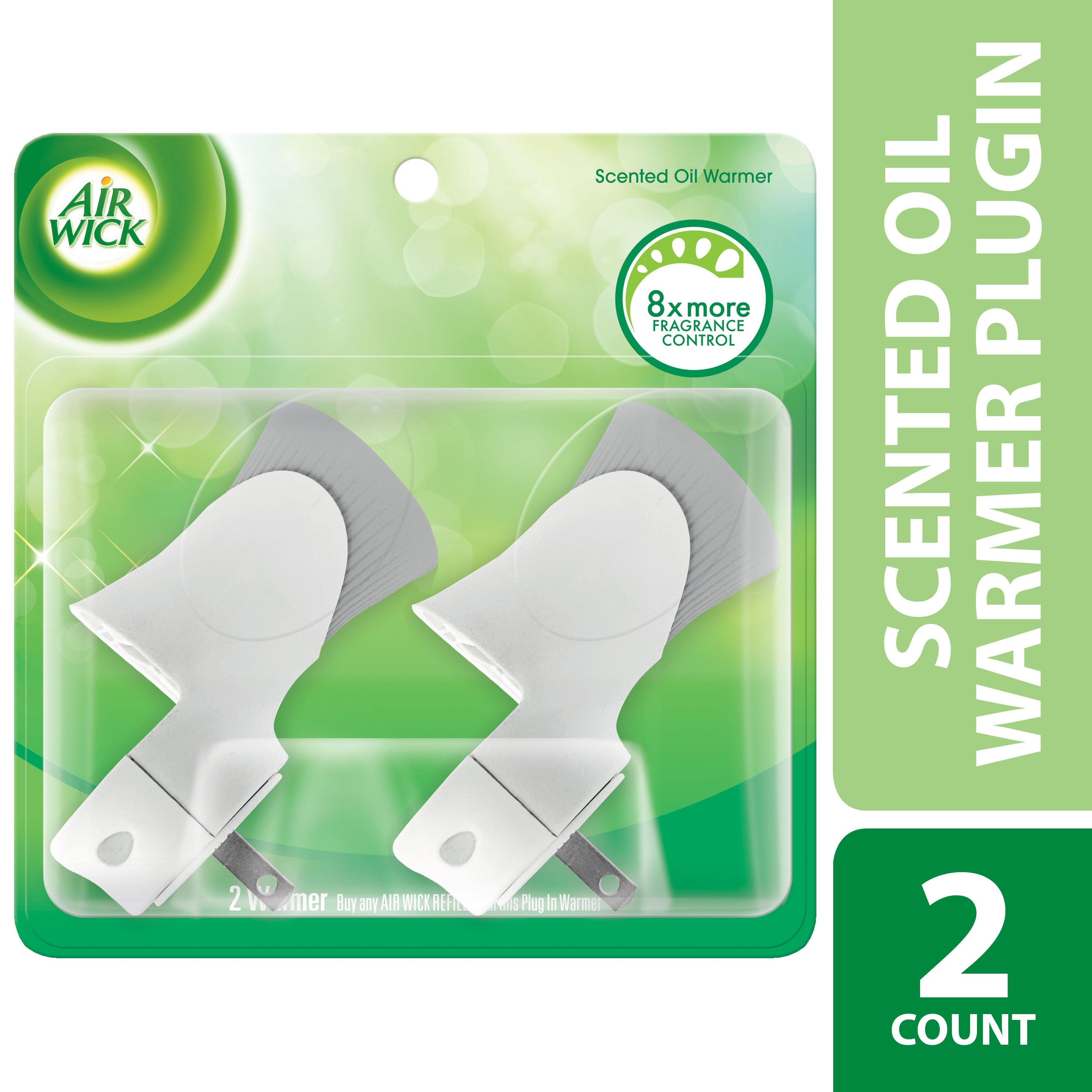 Air Wick Scented Oil Warmer Plugin Air Freshener, White, 2ct