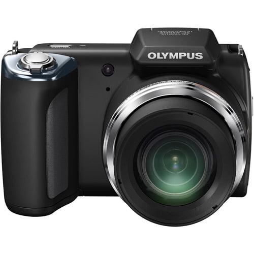 "Olympus SP-620UZ Black 16MP 21x Ultra Zoom Digital Camera w/ 3"" LCD Display, 3D Images"