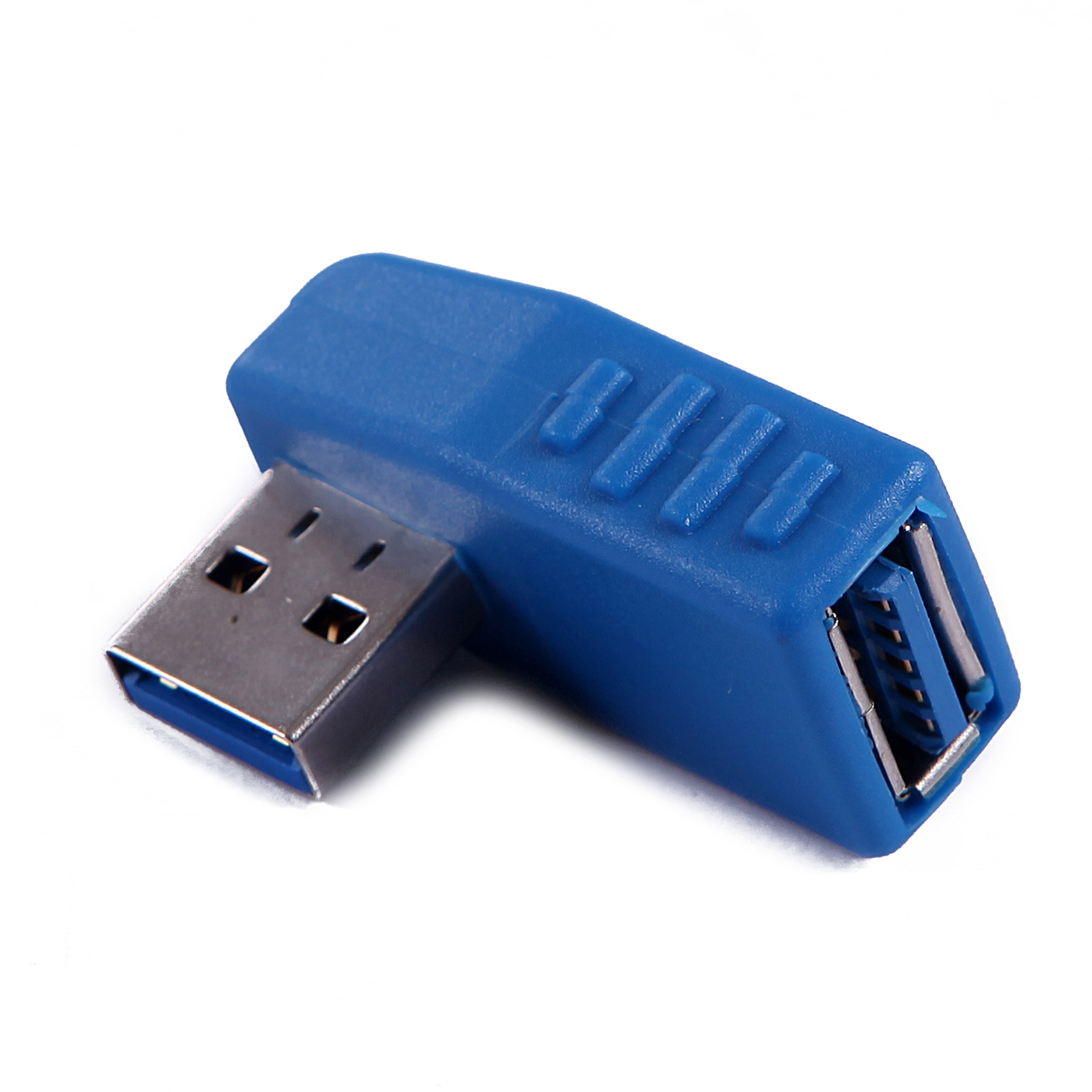 HDE Right Angle USB 3.0 Male to Female Adapter Vertical USB Coupler Connector for PCs Macs and other USB Host Devices (Single)