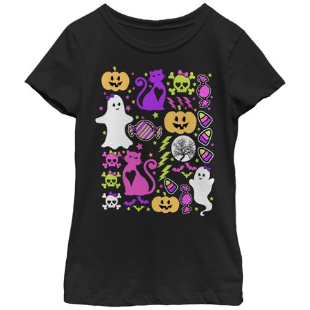 Girls' Halloween Ghostly Bows T-Shirt
