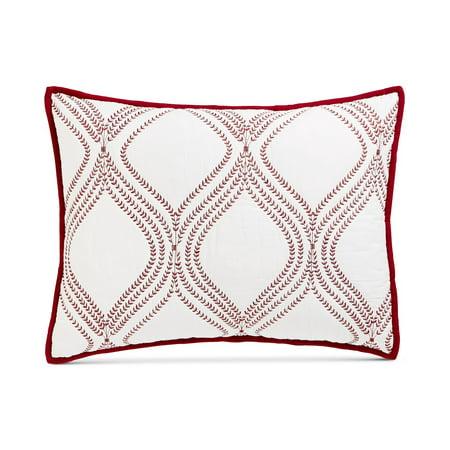 Martha Stewart Collection Gramercy Gate Quilted Standard Sham Red (Red Quilted Sham)