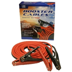 Heavy Duty Battery Booster Cables, 16 Foot, 6 Gauge, with 600 Amp Clamps