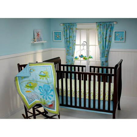 Baby Girl Crib Bedding Sets - Little Bedding by NoJo Ocean Dreams 3-Piece Crib Bedding Set