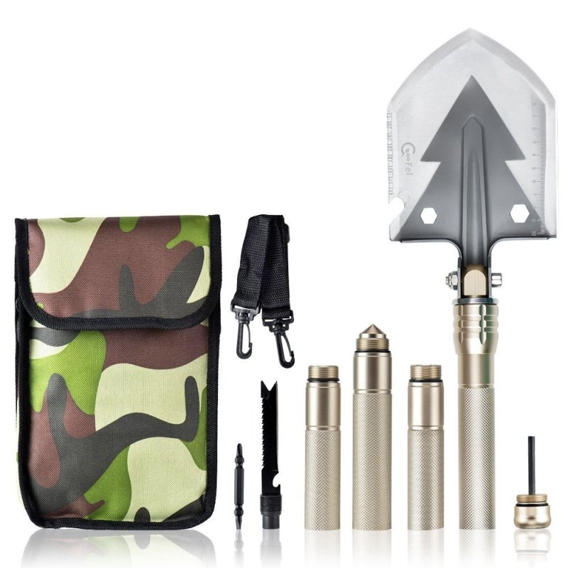 Military Shovel Multi-function Portable Utility Folding Shovel Multitool Tactical Spade... by
