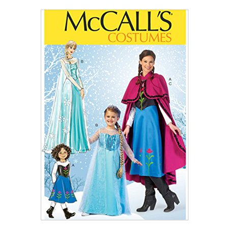 McCall Pattern Company M7000 Misses'/Children's/Girls' Costumes, Size MISS (Small (8-10)-Medium (12-14)-Large (16-18)-X-Large