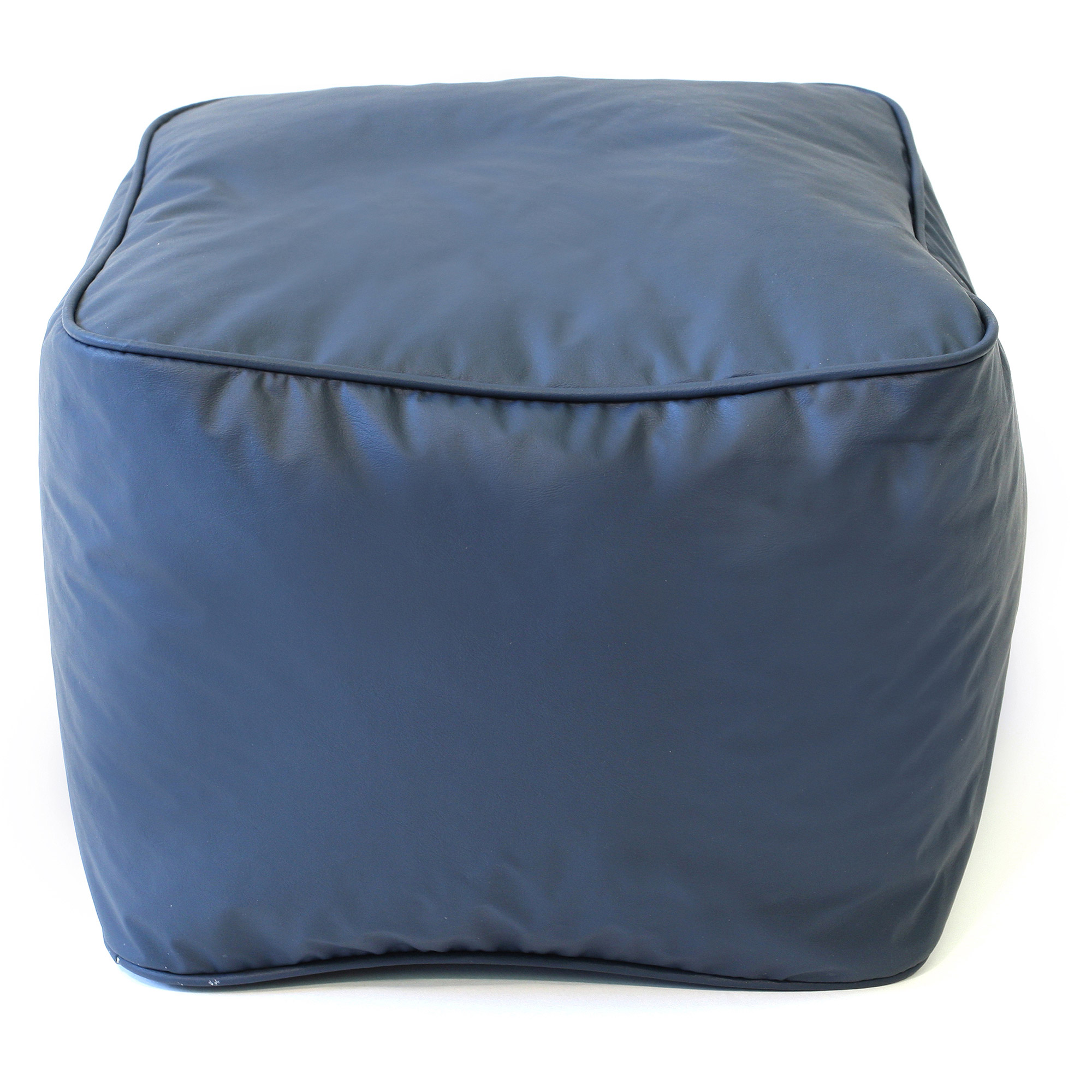 Small Leather Look Vinyl Ottoman
