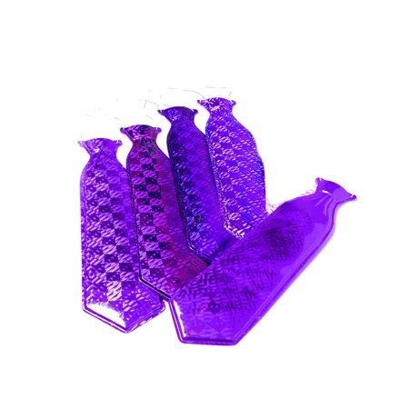 Purple Mylar Long Gangster Roaring 20s String Tie Costume Accessory - Gangster Tie