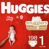 HUGGIES Little Snugglers Diapers Size 1, 198 Count