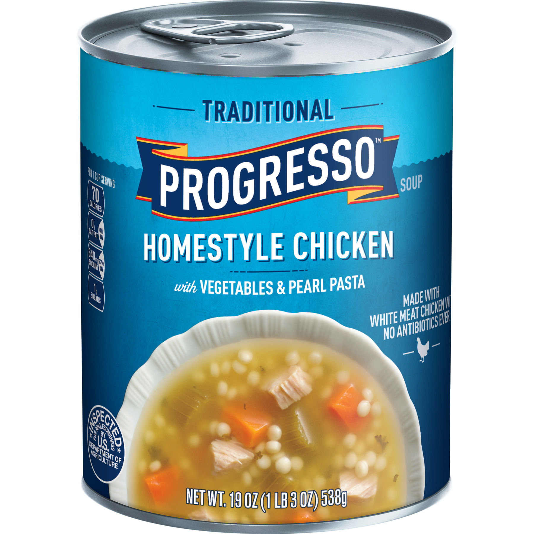 Progresso Soup, Traditional, Homestyle Chicken Soup, 19 oz Can ...