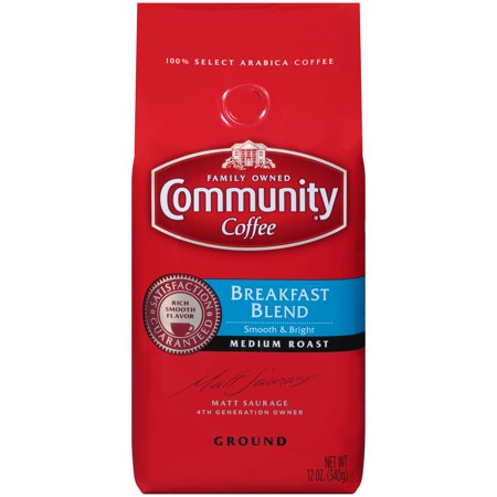 Coffee Breakfast Set - Community® Coffee Breakfast Blend Medium Roast Ground Coffee 12 oz. Bag