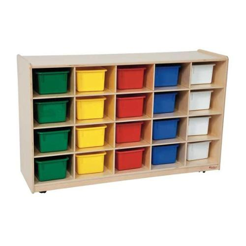 Kid's Play 20 Tray Storage Unit w Assorted Trays (Blueberry)