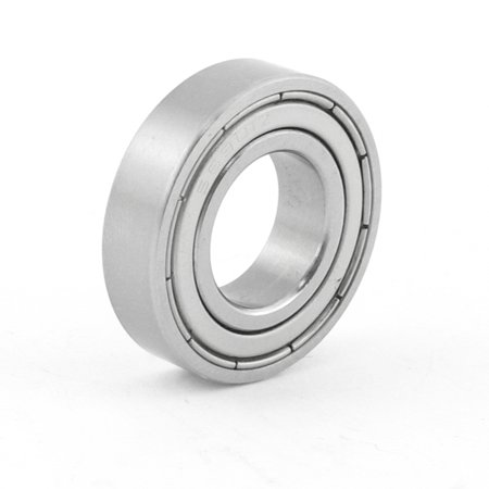 Unique Bargains Siver Tone Stainless Steel 24mm OD 12mm ID Deep Groove Ball Bearing