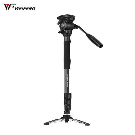 Weifeng WF-3958M Professional Portable Aluminum Alloy Camera Monopod with Fluid Pan Head Unipod Holder 1/4