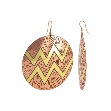 Gem Avenue Zig Zag Designer Dangle Earrings With French Wire Findings
