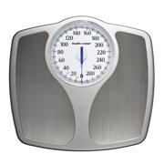 Health O Meter Oversized Dial Bathroom Scale, Stainless Steel