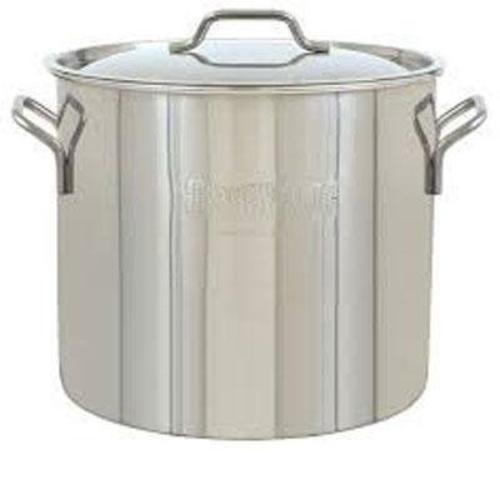 Bayou Classic 1420 Cookware - 20 Quart Stockpot, Lid - Stainless Steel, Steel Handle - Cooking, Brewing - Dishwasher Safe - Stainless Steel (1420_2)