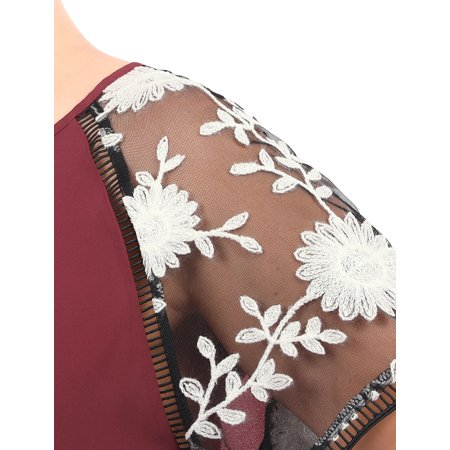 Agnes Orinda Femmes Grande Taille Crochet Panneau Mesh Lycra Manches Raglan Top - image 1 de 7