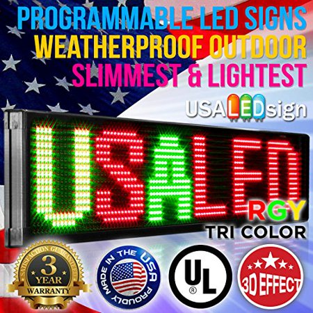 Programmable Sign (LED Signs 40  X 15  Tri-color Bright Digital Programmable Scrolling Message Display / Business)