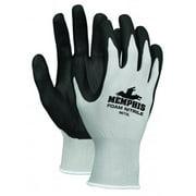 Memphis Glove 127-9673M Foam Nitrile Gloves, Medium, Black & Gray