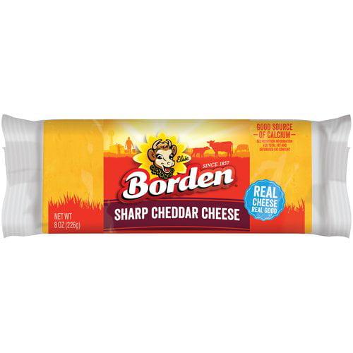 Borden Natural Sharp Cheddar Cheese, 8 oz