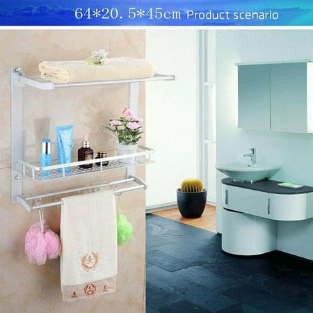 Walmart Bathroom Towel Racks.Towel Racks For Bathroom Wall Mount Wall Mounted Alumimum Bathroom Towel Rack 3 Tiers Bath Shelf Organizer