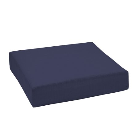 Better Homes & Gardens Navy 24 x 24 in. Outdoor Deep Seating Seat Cushion w EnviroGuard ()