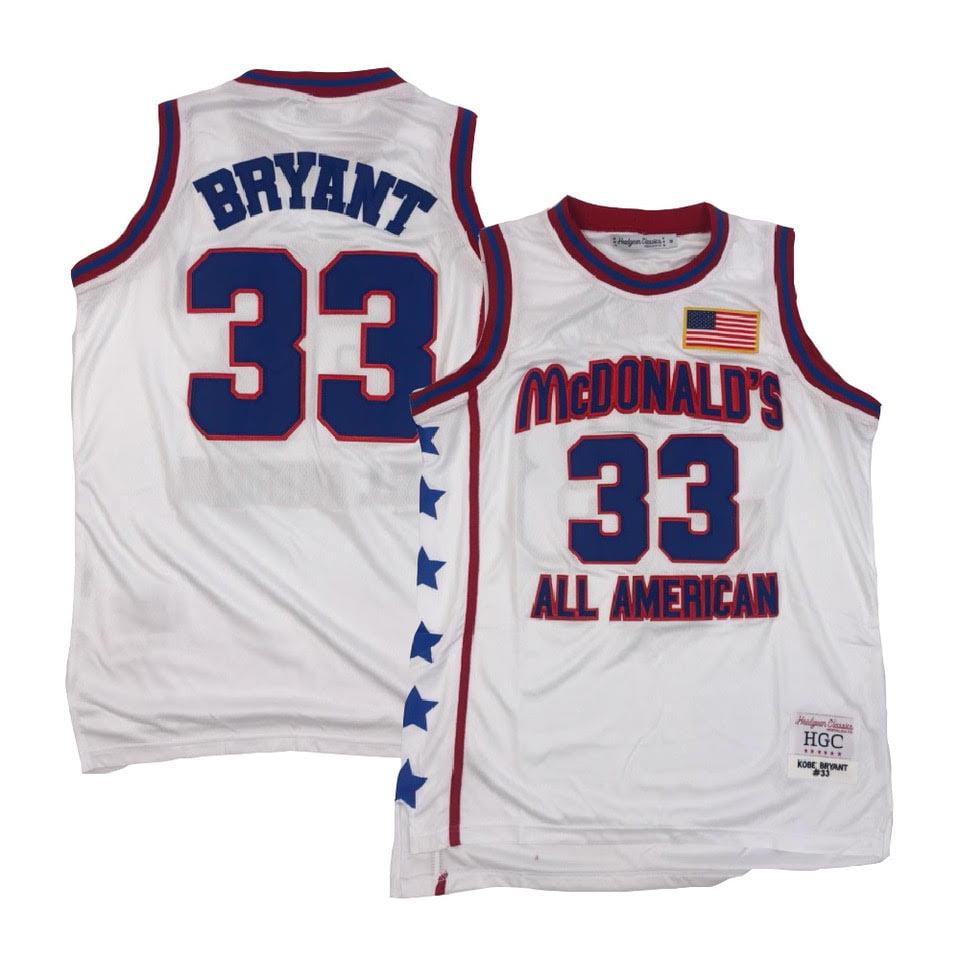 Headgear - Kobe Bryant McDonald's All American White Jersey - Walmart.com