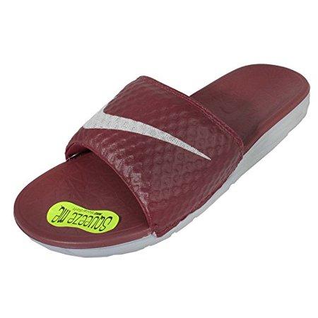 9f0a1ce5f Nike - Nike Men s Benassi Solarsoft Slide Team Red Wolf Grey (13 D(M ...