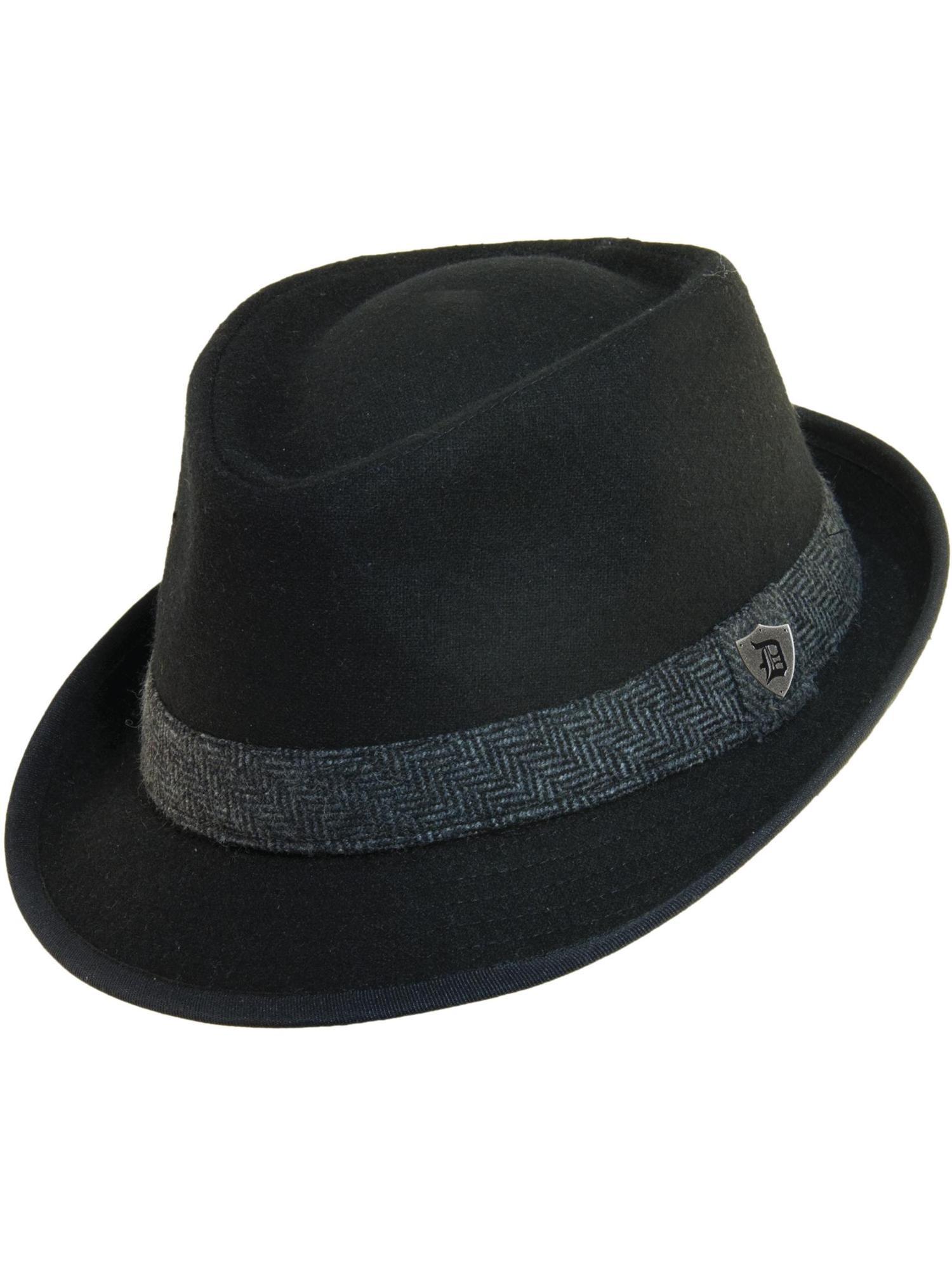 c75664c56ca84 Dorfman Pacific Men s Wool Blend Fedora Hat with Herringbone Band ...