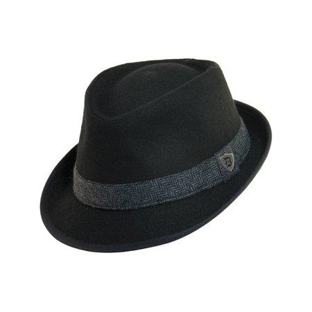 Dorfman Pacific Men s Wool Blend Fedora Hat with Herringbone Band -  Walmart.com f5af40b30efe