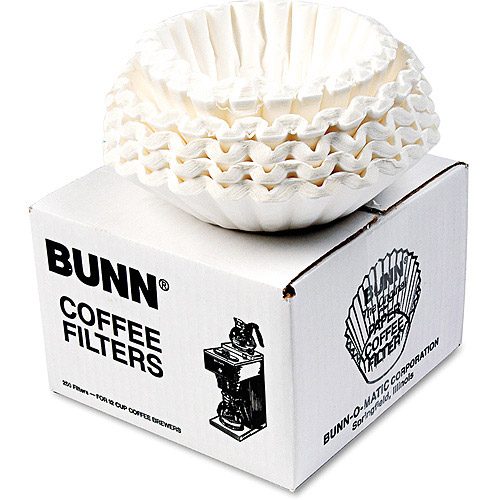 Bunn Flat Bottom Commercial Coffee Filters, 250ct