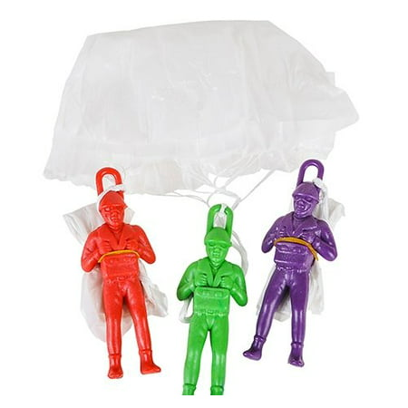 12 Parachute Men Paratroopers Toy Soldiers Boy Birthday Party Favors