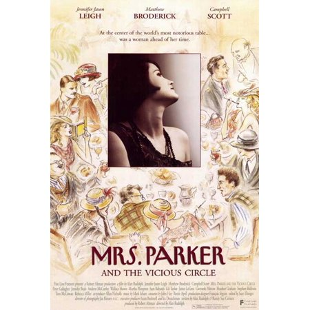 Mrs  Parker And The Vicious Circle Poster Movie  27X40