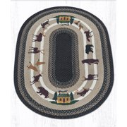 Earth Rugs OP-313 Lodge 3 Oval Patch 4 Feet x 6 Feet
