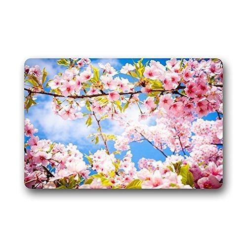 Winhome Classical Art Cherry Blossom Doormat Floor Mats Rugs Outdoors Indoor Doormat Size 30x18 Inches Walmart Com Walmart Com