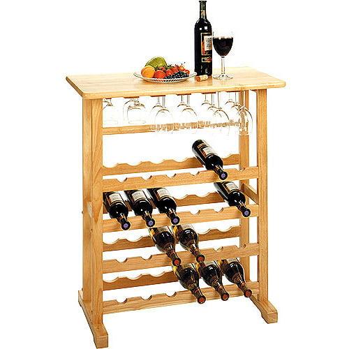 Winsome Wood Vinny 24-Bottle Wine Rack, Natural, Multiple Finishes