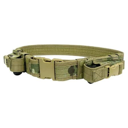 BALIGHT Tactical Combat Battle Belt Quick Detach Buckle & 2 Pistol Mag Pouches