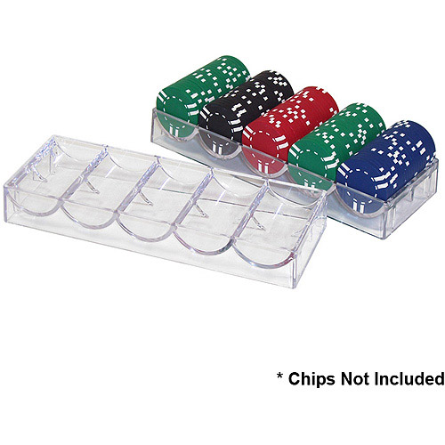 Trademark Poker Clear Acrylic Chip Rack/Tray (to be used with Cover)