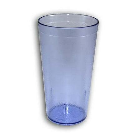 NEW, 16 Oz. (Ounce) Restaurant Tumbler Beverage Cup, Glassware & Drinkware, Stackable Cups, Break-Resistant Commmerical Plastic, Set of 6 - Blue Blue Textured Stackable Tumbler