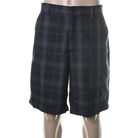 Greg Norman Mens Plaid Moisture Wicking Casual Shorts