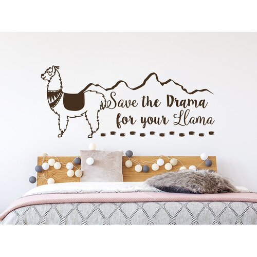 Zoomie Kids Save the Drama for your Llama Wall Decal