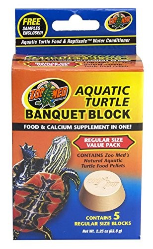 Zoo Med Banquet Block Aquatic Turtle Food by Zoo Med