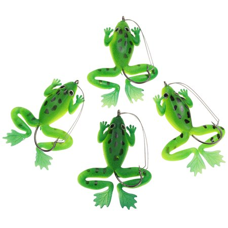 4pcs Artificial Topwater Life-like Fishing Lures Baits Tackle Bait Soft Bait with One Single Hook - image 6 of 7