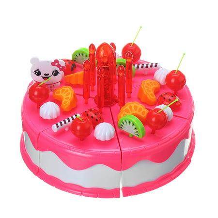 Wondrous 66 Pcs Birthday Cake Tea Party Play Food Set Plastic Kitchen Party Funny Birthday Cards Online Drosicarndamsfinfo