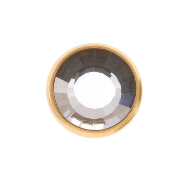 SWAROVSKI ELEMENTS Gold Plated Crystal Snap Fastener Button 11mm (1 Set)