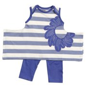 Little Girls Violet Stripe Karrie Tunic Leggings Outfit Set 2-4T