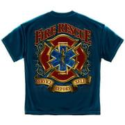 Cotton Fire Resuce Gold Shield T-Shirt